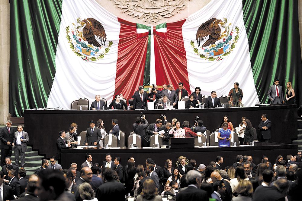 A las 17:00 horas inició la sesión de apertura del Congreso General. Foto: LESLIE PÉREZ