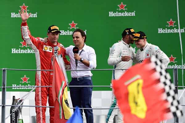 Una vez más el Gran Premio de Italia acabó en manos de Lewis Hamilton. FOTO: AFP