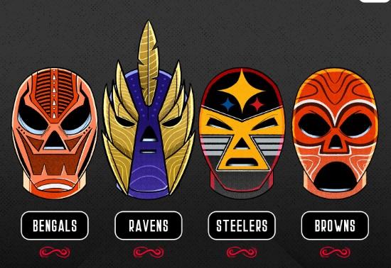Las máscaras respetan los colores tradicionales de cada equipo y en algunos casos hacen alusión a sus logotipos. Foto: @nflmx