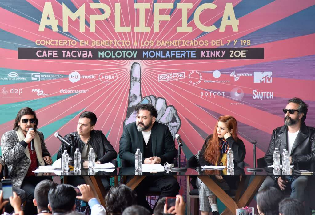 El concierto Amplifica donó sus ganancias para damnificados de los sismos. Foto: Cuartoscuro