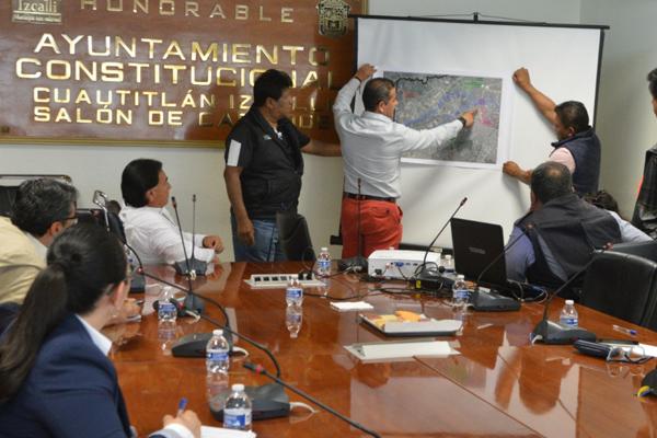 Conagua y Operagua presentaron a las autoridades municipales diagnósticos de la situación del Carril San Agustín, Río San Lorenzo y Presa El Rosario. FOTO: ESPECIAL