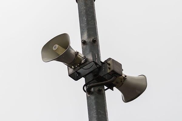 Esta tarde se realizó una prueba de audio de los altavoces de la alerta sísmica en la Ciudad de México. FOTO: CUARTOSCURO