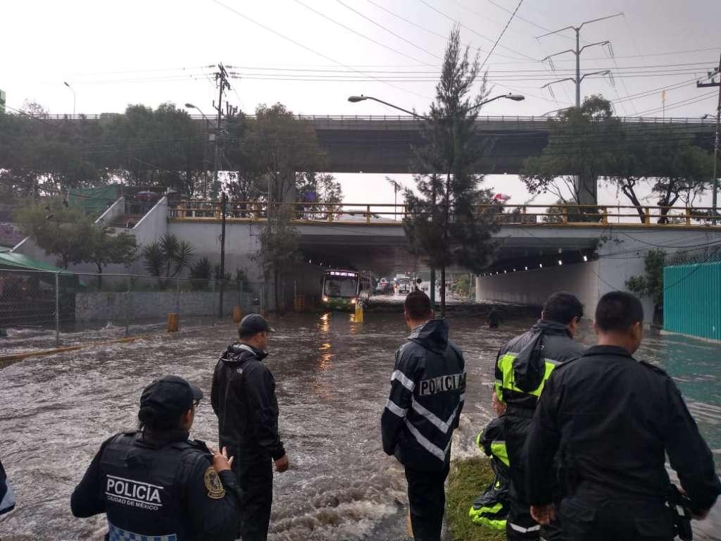 Alerta: Picacho Ajusco y Periférico Sur, zonas afectadas por lluvias en CDMX. Foto: Especial.