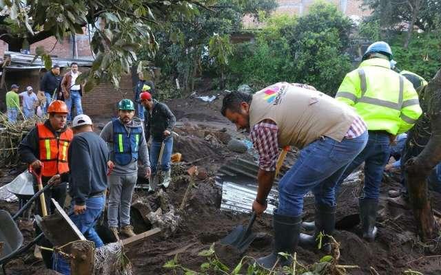 Suman  muertos por lluvias en  Peribán, Michoacán. Foto: Especial