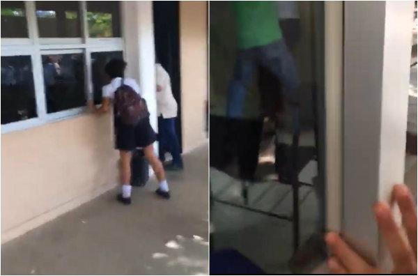 Hasta el momento se desconoce el estado de salud del herido, que supuestamente tenía rencillas con el joven armado, por una estudiante del mismo plantel
