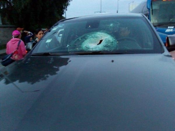 Automovilistas fueron agredidos en la México-Puebla. FOTO: ESPECIAL