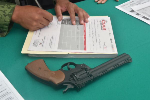 Seguridad Pública precisó que en los 16 módulos instalados en los diferentes municipios del territorio mexiquense, hasta el momento se han resguardado 455 armas. FOTO: ESPECIAL