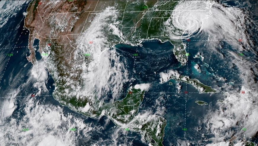 Se esperan intervalos de chubascos para zonas de la Ciudad de México, Morelos, Tlaxcala, Campeche y Quintana Roo. Foto: @conagua_clima
