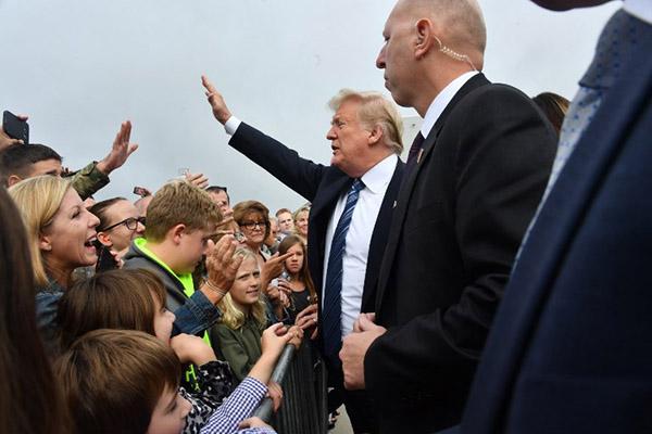 El presidente estadounidense, Donald Trump, acudirá este martes a la localidad de Shanksville, en Pensilvania. FOTO: AFP