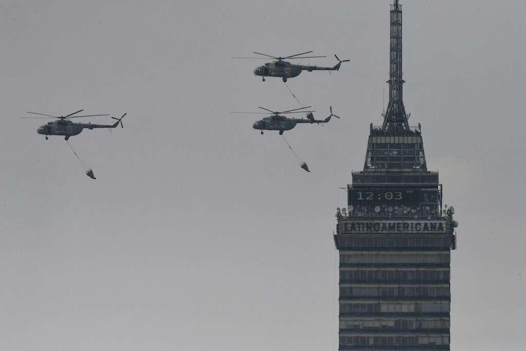 Las sorprendentes imágenes del desfile militar de este 16 de septiembre. Foto: Bernardo Coronel / El Heraldo de México
