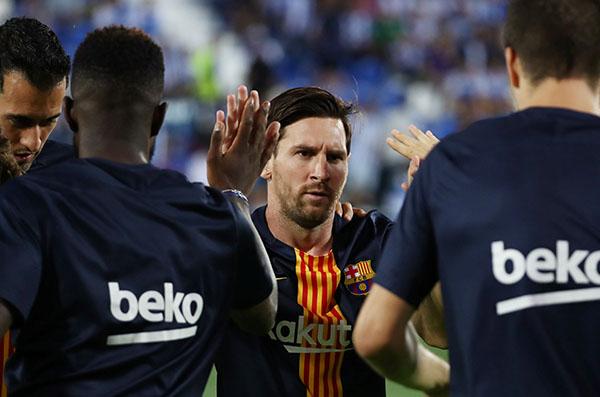 Presume ser el jugador más ganador en la historia del Barcelona con 9 Ligas de España. FOTO: REUTERS