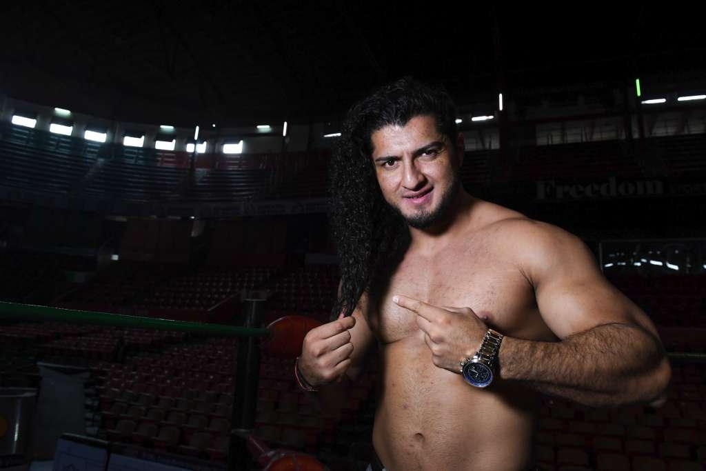 INVICTO. El luchador buscará esta noche la séptima cabellera de su carrera en una década. Foto: LESLIE PÉREZ