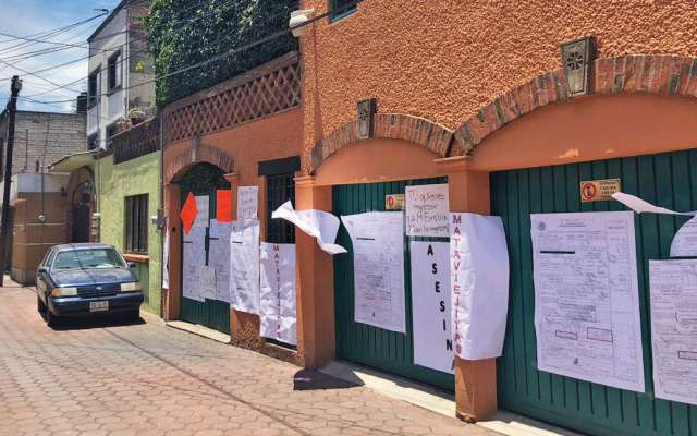 VIOLENCIA. La vivienda de María Rojo fue objeto de ataques durante el pasado proceso electoral. Foto: Especial