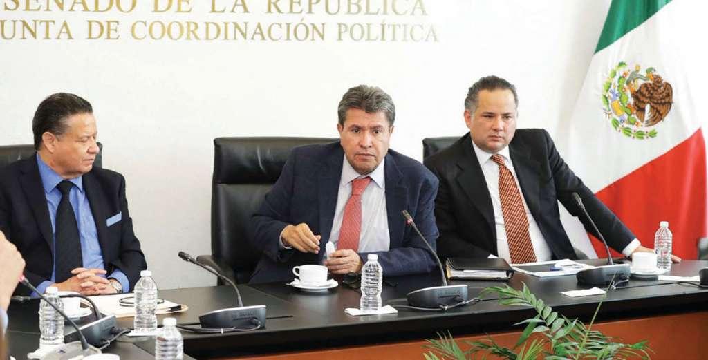 Reunión de la Jucopo donde se aborda el tema de la fiscalía general.