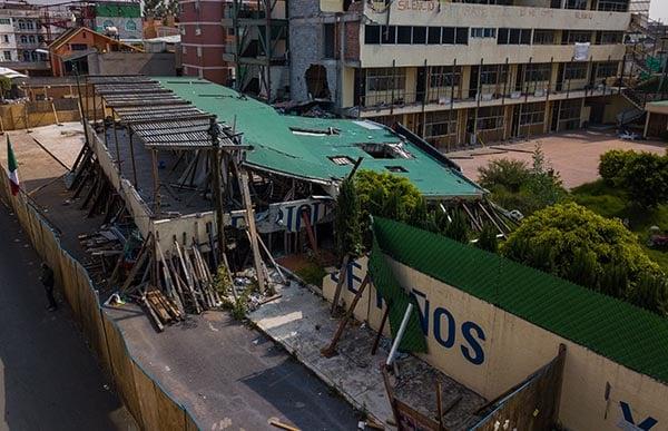 A un año del sismo del 19 de Septiembre, en el que colapsaron 38 edificios en la Ciudad de México, según información de Google, y el cual produjo daños en más de 500 inmuebles, se observa nulo avance en las obras de reconstrucción. FOTO: CUARTOSCURO