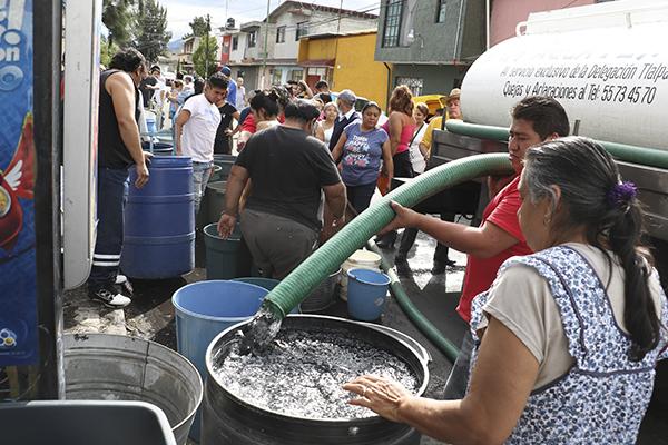 Repartirán agua mediante pipas en las colonias afectadas. FOTO: CUARTOSCURO