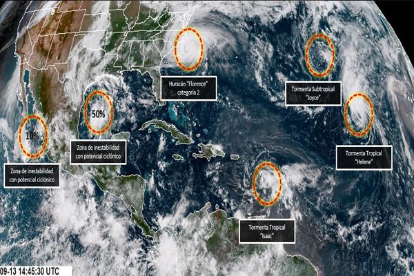 Al momento estos fenómenos no afectan las costas mexicanas. FOTO: CONAGUA