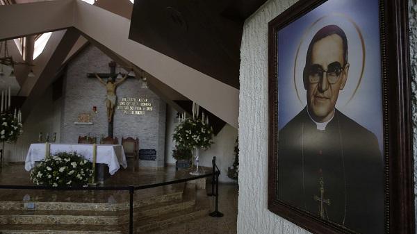 Vista de la capilla donde fue asesinado el beato Óscar Arnulfo Romero, en San Salvador. Foto: EFE