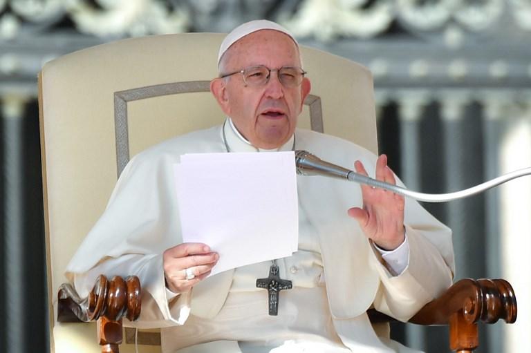 Papa Francisco arremete contra el aborto. Alberto PIZZOLI / AFP