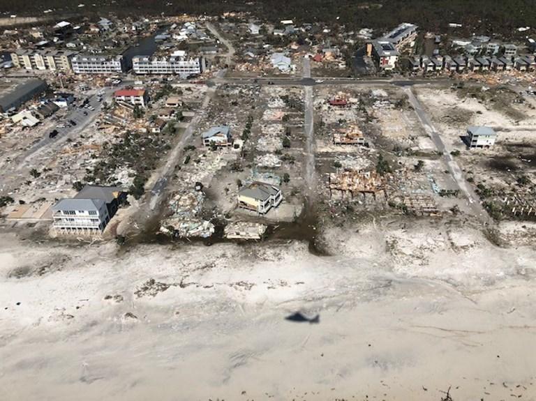 Huracán Michael destroza a Florida. Foto: AFP.