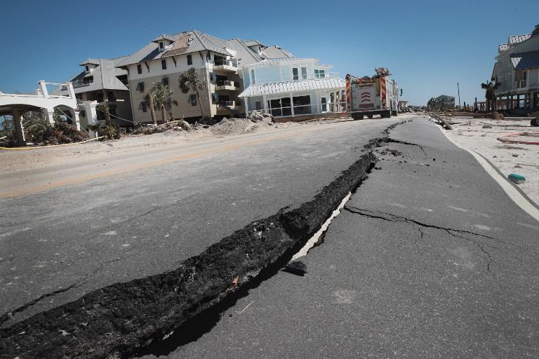FURIA. Michael causó severos daños en la infraestructura de algunas áreas de Florida. Foto: AFP