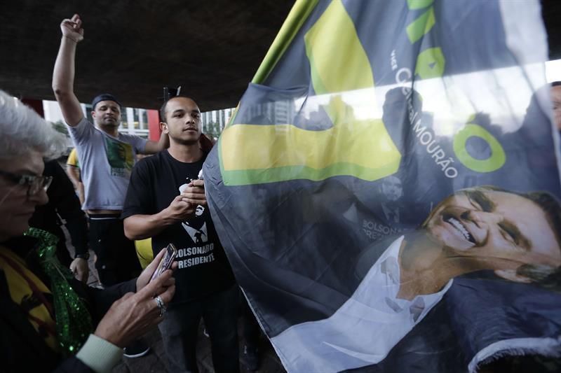 Triunfo Jair Bolsonaro FOTO: EFE