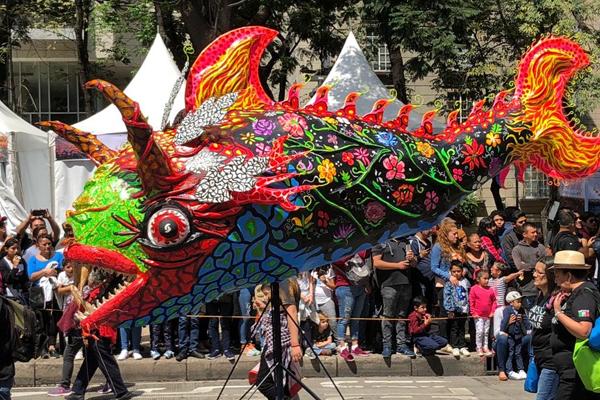Los alebrijes serán expuestos en Reforma. FOTO: ESPECIAL