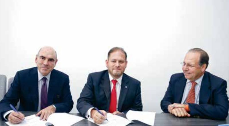 Amelaf y El Heraldo de México  firman convenio a favor de la salud. Foto:  Nayeli Cortés.