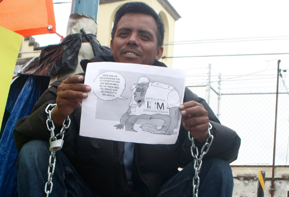 El activista se encontraba con una agrupación de extranjeros. FOTO: ESPECIAL