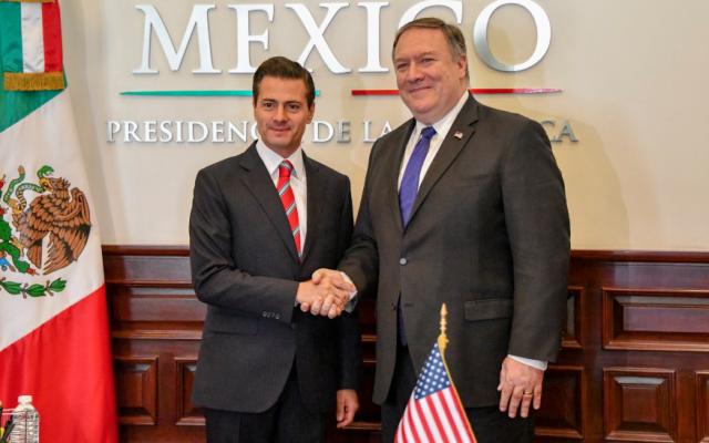 Mike Pompeo se reúne con Peña Nieto en Los Pinos