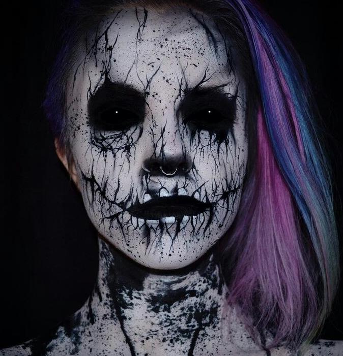 Maquillaje con aerógrafo, ideal para lucir espeluznante el Día de Muertos y Halloween