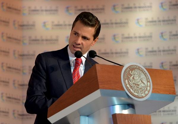 El presidente Peña Nieto durante el encuentro con Emmanuel Macron, . Foto: Archivo/Cuartoscuro