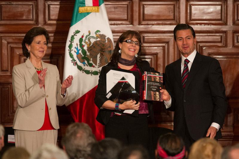 María Elena Álvarez-Buylla Roces, recibió el premio nacional de Ciencias en el campo de Ciencias Físico-Matemáticas y Naturales el 2 de abril de 2018. Foto: Cuartoscuro.com