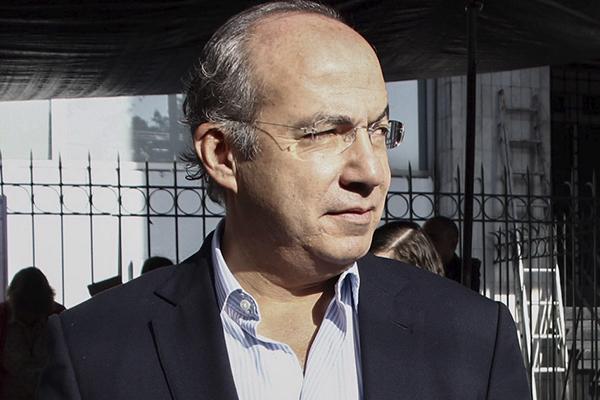 El ex presidente de México, Felipe Calderón Hinojosa  FOTO: CUARTOSCURO