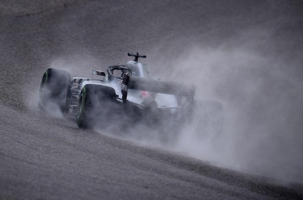 Lewis Hamilton durante los ensayos del Gran Premio de Estados Unidos. Foto: AFP