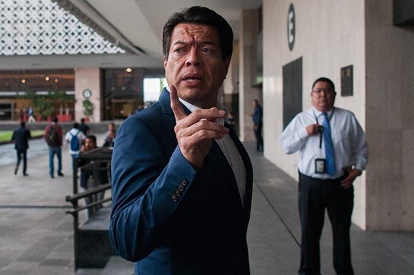 """Mario Delgado, coordinador de los diputados de Morena, anunció que desaparecerán el fondo de los """" moches"""".  FOTO: CUARTOSCURO"""