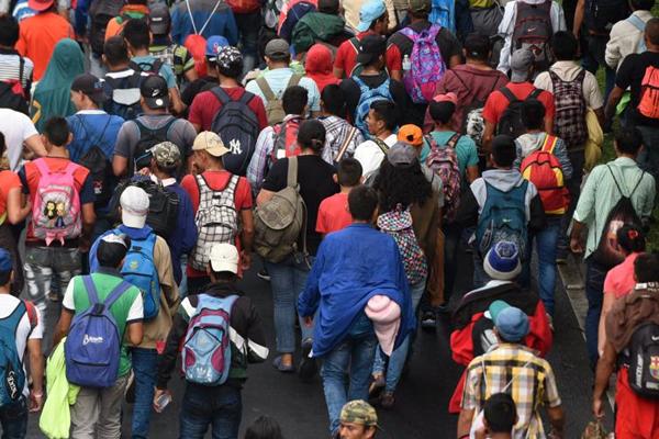La caravana migrante viaja de Honduras a Estados Unidos. FOTO: ESPECIAL