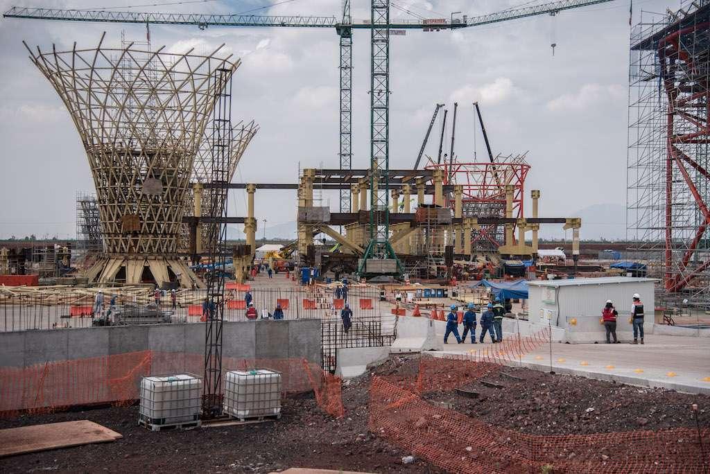 Demerita ICA demanda de PensionISSSTE.  Imagen de construcción del NAIM. FOTO: MARIO JASSO /CUARTOSCURO.COM