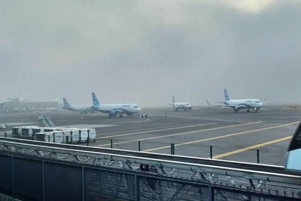 Un banco de nieblaafectó la visibilidad en las inmediaciones del aeropuerto. Foto: Archivo | Cuartoscuro
