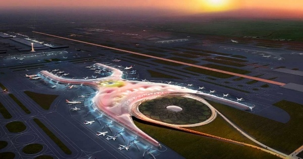 La obra en Texcoco tendrá una capacidad en su primera etapa para atender a 70 millones de pasajeros. Foto: Especial