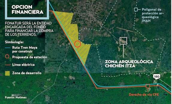 Fideicomiso del Tren Maya propone como socios a dueños de terrenos. Gráfico: Heraldo de México