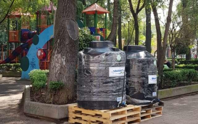 El Sistema de Aguas (Sacmex) y la Comisión Nacional del agua (Conagua) instalarán 90 tinacos de gran capacidad, en 7 alcaldías
