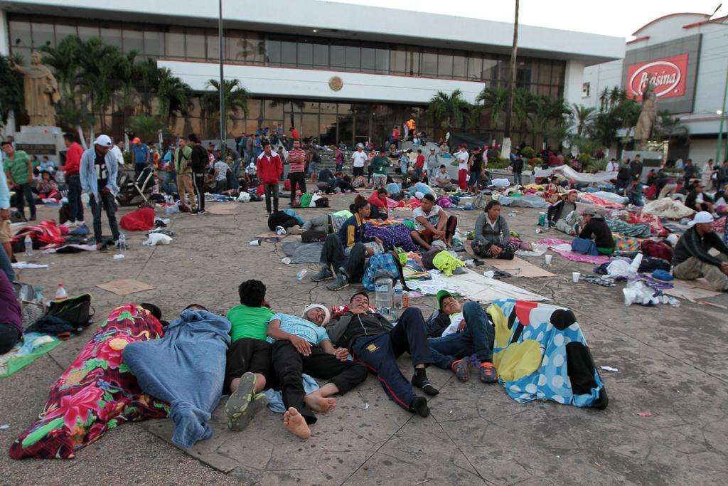 Caravana de Migrantes en Tapachula,Chiapas. Foto: AFP y Notimex