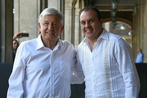 A las 17:00 horas, en el Zócalo de Cuernavaca, López Obrador encabezará un acto, en el marco de la gira del agradecimiento. FOTO: TWITTER