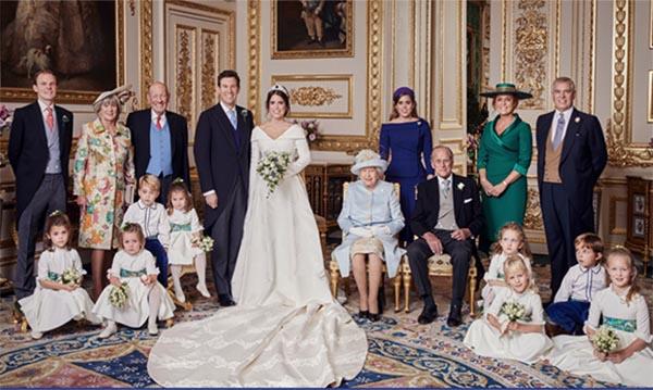 Familia Real publica foto oficial de la boda de Eugenia de York y Jack Brooksbank