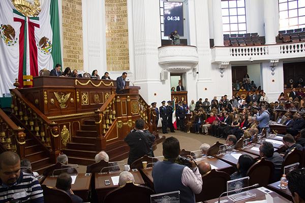 El grupo parlamentario del PAN en el Congreso de la Ciudad de México propuso la implementación de un Código de Responsabilidades Parlamentarias.  FOTO: CUARTOSCURO