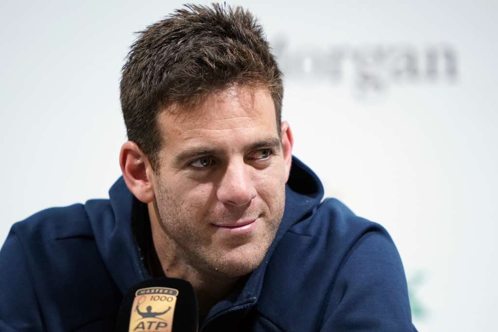 Juan Martin del Potro of Argentina attends a press conference at the Shanghai Masters tennis tournament on October 10, 2018. (Photo by Johannes EISELE / AFP)