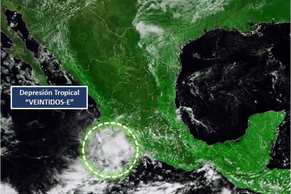 Este fenómeno está ubicado a 125 kilómetros por hora de Lázaro Cárdenas, Michoacán. Foto: Conagua