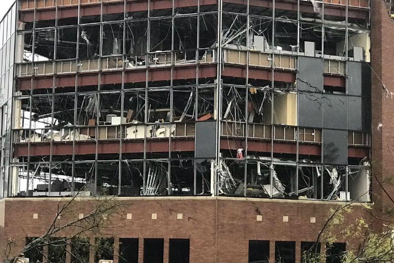 Destrucción en edificaciones que dejó el huracán Michael