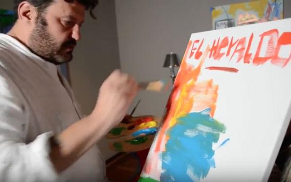 El famoso pintor está en México Foto: Captura de video